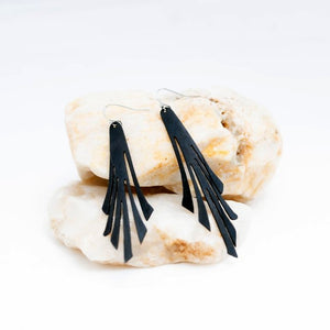 Upcycled Bicycle Inner Tube Earrings