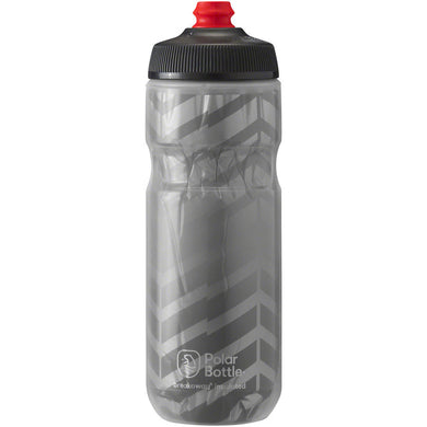 Polar Bottles Breakaway Bolt Insulated Water Bottle, Charcoal/Silver Made in Colorado, USA