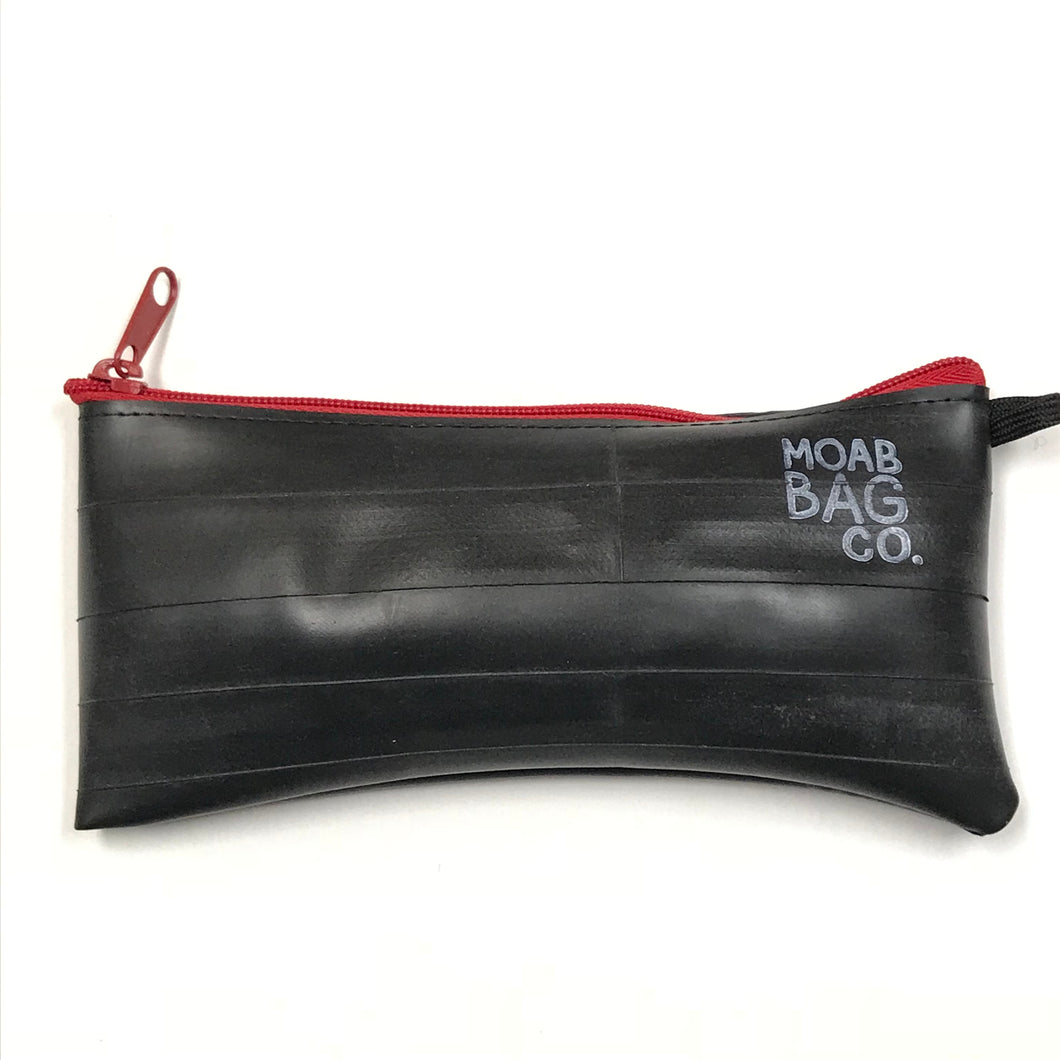 Zipper Pouch, Large - Made With Recycled Bike Tubes
