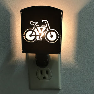 Rustic Metal Bicycle Nightlight
