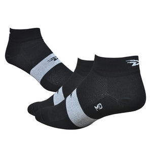 "DeFeet Aireator 1"" Team DeFeet - Black/White Stripe Socks"