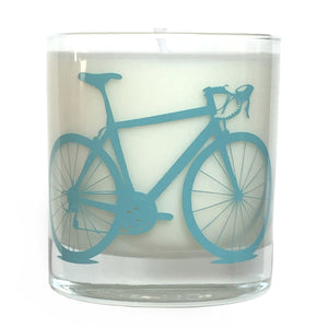 Soy Candle in Reusable Rocks Glass with Bicycle Screenprint