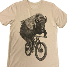 Buffalo on a Bicycle T-Shirt , Men's, Oatmeal