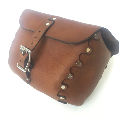 Leather Bicycle Handlebar Bag - Large