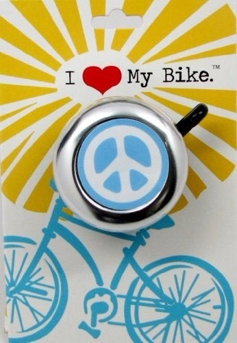 Blue Peace Sign Bike Bell