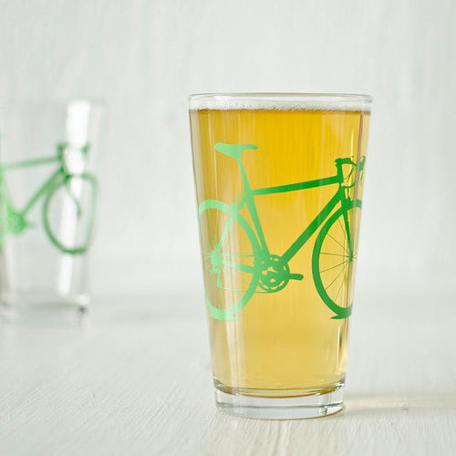 Road Bike Pint Glass