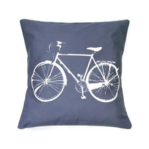 Bicycle Print Pillow