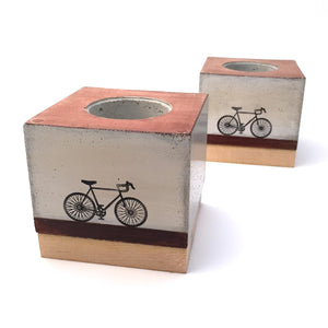 Concrete Cube Planter - Bike