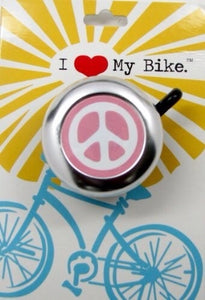 Pink Peace Sign, Bike Bell
