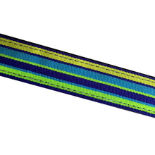 Bright Stripes Dog Collar - Made With Recycled Bike Tubes - Large
