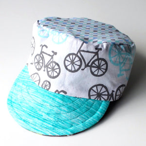 Conductor Cap / Sun Hat with Bikes 'n Dinos