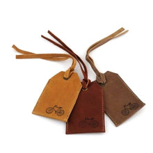 Leather Luggage Tag, Bicycle