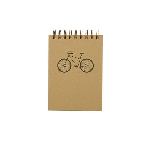 Spiral Notebook, Bike with Grid Paper