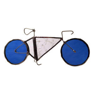 Stained Glass Bicycle Ornament