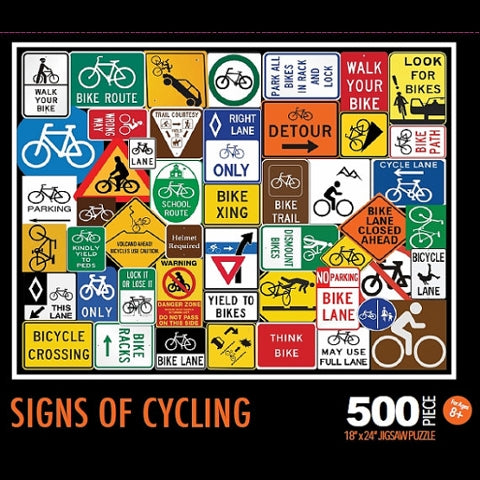 Signs Of Cycling Bike Jigsaw Puzzle