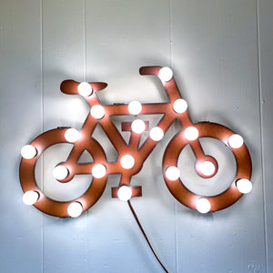 Rustic Illuminated Bike