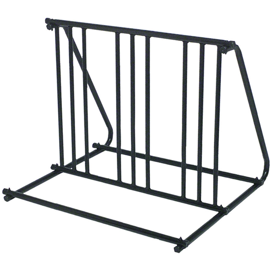 Saris Mighty Mite Parking Stand: Holds 6 bikes, Black