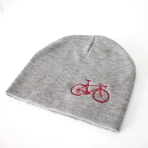 Bicycle Beanie With Embroidered Bike