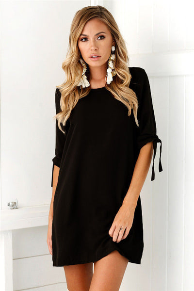 Sexy Womens Plus Size Long T-shirt Ladies Casual Party Mini Dress Blouse Tops - UNVACANAL