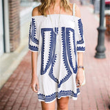 Beach Cover Up Embroidery Vintage Swimwear Ladies Tunics Kaftan Dress - UNVACANAL