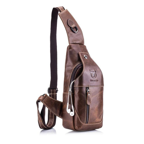 Genuine Leather Crossbody casual messenger bag - UNVACANAL