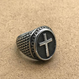 Hot Popular Titanium Steel Cross Ring - UNVACANAL