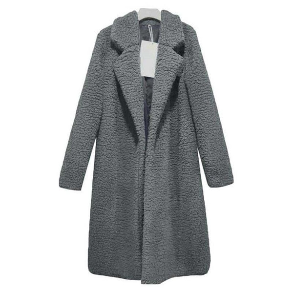 Autumn Winter Teddy Bear  Faux Fur Outwear Coat for Women - UNVACANAL