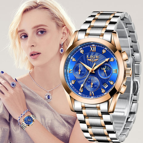 New Gold Creative Steel Women's Bracelet Watches