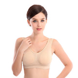 Womens Thin No Mat Vest Fitness Stretch Bra Female underwear