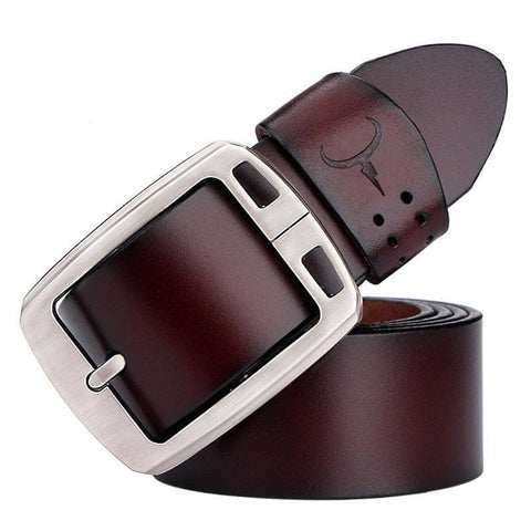 Genuine leather belts for men brand Strap male pin buckle vintage jeans belt