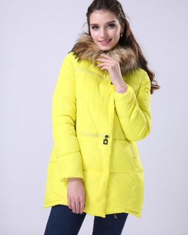 1PC Winter Jacket Women Casacos De Inverno Feminino Thickening Cotton Hooded Parka For Women