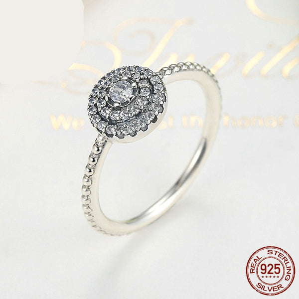 Sterling Silver Ring Radiant Elegance Women Rings