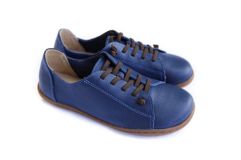 100% Authentic Leather Plain toe Lace up Ladies Shoes - UNVACANAL