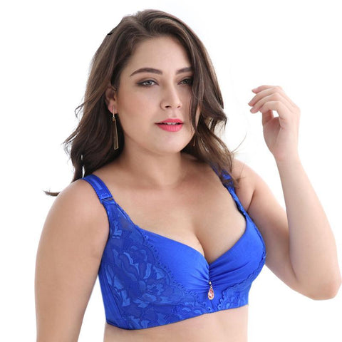 Sexy women bra plus size D E cup push up bra brassiere side adjustment underwear - UNVACANAL
