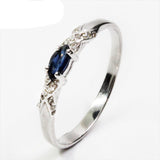 Hotsale natural sapphire & natural sapphire gemstone silver ring for Women - UNVACANAL