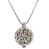 New design Statement Essential Oil rhinestone round Pendant Necklace - UNVACANAL