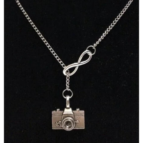5 pcs Vintage Infinity Camera Charms Collar Sweater Necklace