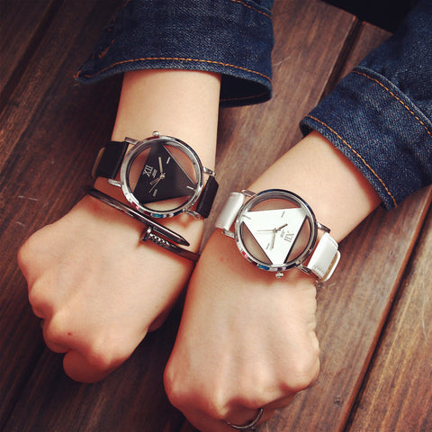 Fashion Triangle Transparent Women Watches - UNVACANAL