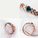 New Valentine's Gift Rose Gold Color Genuine Austrian Crystal Rings For Women - UNVACANAL