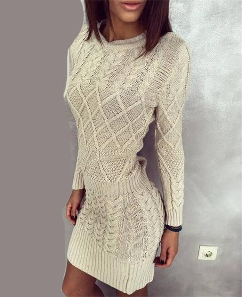 Hot Spring Dress 2018 Women Sweater Warm Dresses - UNVACANAL