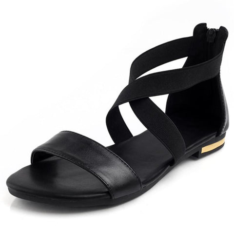 Hot Sale Sweet Women Flats Genuine Leather Women Sandals