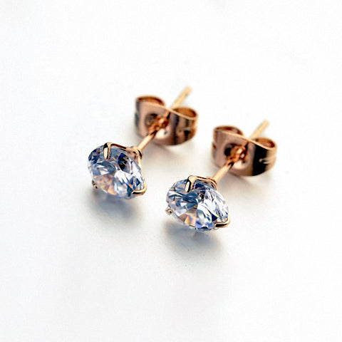 Austrian crystal Zircon Simple Fashion Stud Earrings for Women - UNVACANAL