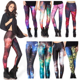 6 Patterns Red Blue Grey Purple Casual Leggins - UNVACANAL