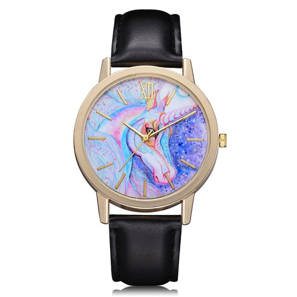 Leather Strap Watch Cartoon fantatic style Luxury Wrist Watches For Women