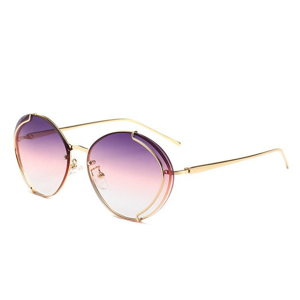 Luxury Brand High Quality UV400 Vintage Women Sunglasses - UNVACANAL