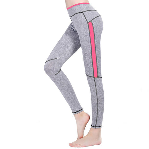 Fashion Lady Trousers Fitness Elastic Stretch Slim Leggings Soft Color Patchwork Pants