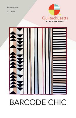 Barcode Chic Quilt Pattern by Quiltachusetts