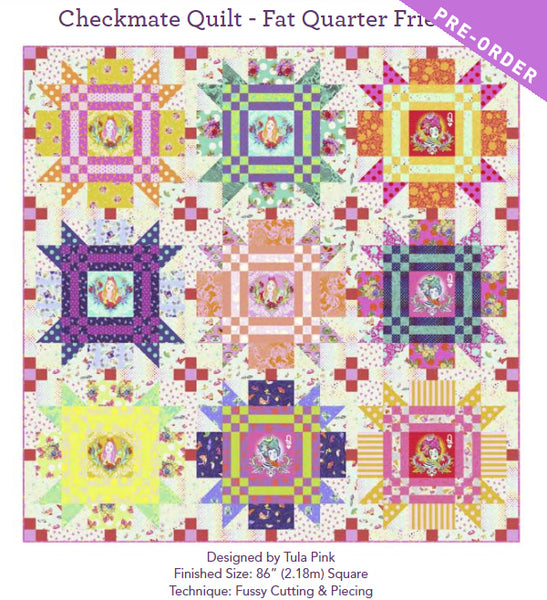 Checkmate Quilt Kit - Curiouser&Curiouser - PreOrder April 2021
