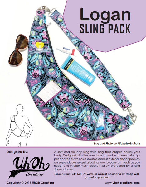 Logan Sling pack - paper pattern - Uh Oh Creations
