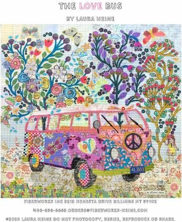 The Love Bus Collage  - pattern